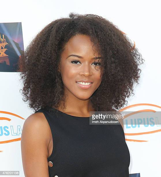 Actress/singer Serayah attends Lupus LA's Orange Ball A Night Of Superheroes at Fox Studio Lot on June 6 2015 in Century City California