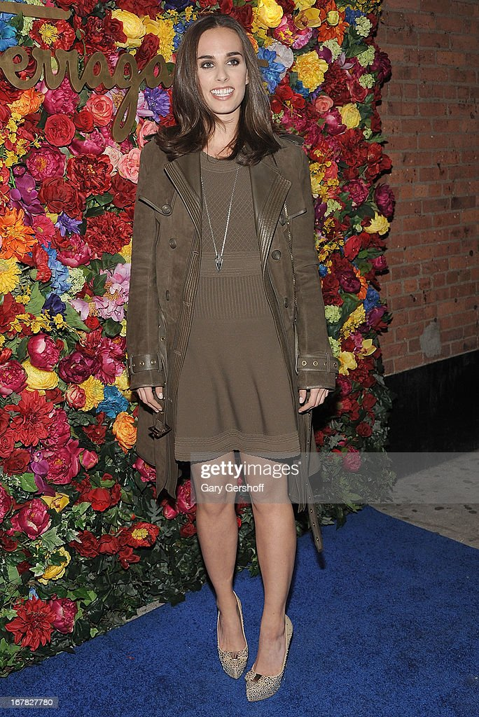 Actress/singer Sophie Auster attends Ferragamo Celebrates The Launch Of L'Icona Highlighting The 35th Anniversary Of Vara at 530 West 27th Street on April 30, 2013 in New York City.