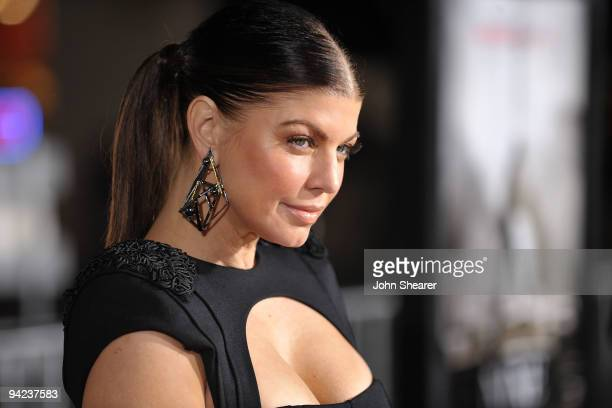 Actress/singer Stacy 'Fergie' Ferguson arrives at the Los Angeles premiere of the Weinstein Company's 'NINE' at the Mann Village Theatre on December...
