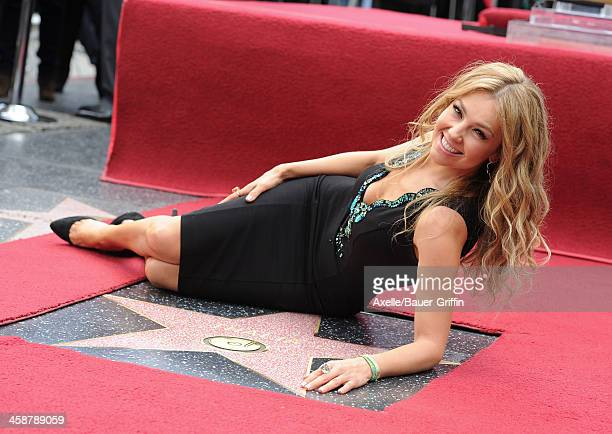Actress/singer Thalia is honored with a Star on the Hollywood Walk of Fame on December 5 2013 in Hollywood California