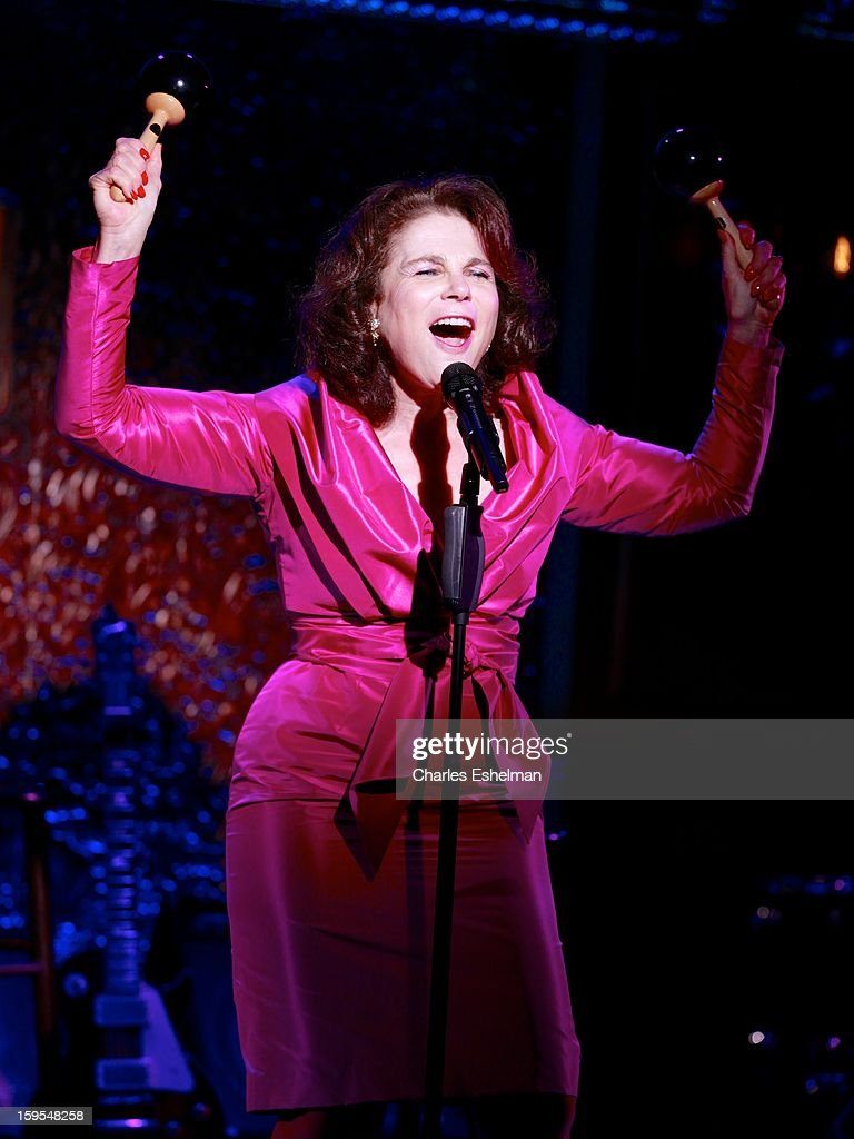 Actress/singer Tovah Feldshuh performs at 54 Below on January 15, 2013 in New York City.