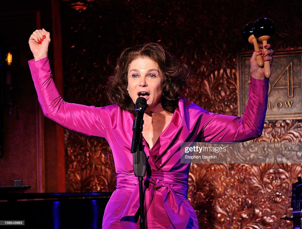 Actress/singer Tovah Feldshuh performs at a special press preview at 54 Below on January 15, 2013 in New York City.