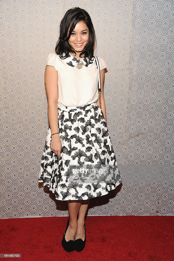 Actress/singer Vanessa Hudgens attends the Alice + Olivia By Stacey Bendet presentation during Fall 2013 Mercedes-Benz Fashion Week on February 11, 2013 in New York City.