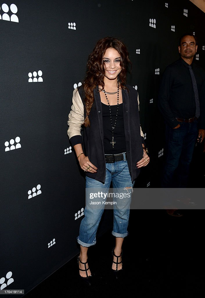 Actress/singer Vanessa Hudgens attends the new Myspace launch event at the El Rey Theatre on June 12, 2013 in Los Angeles, California