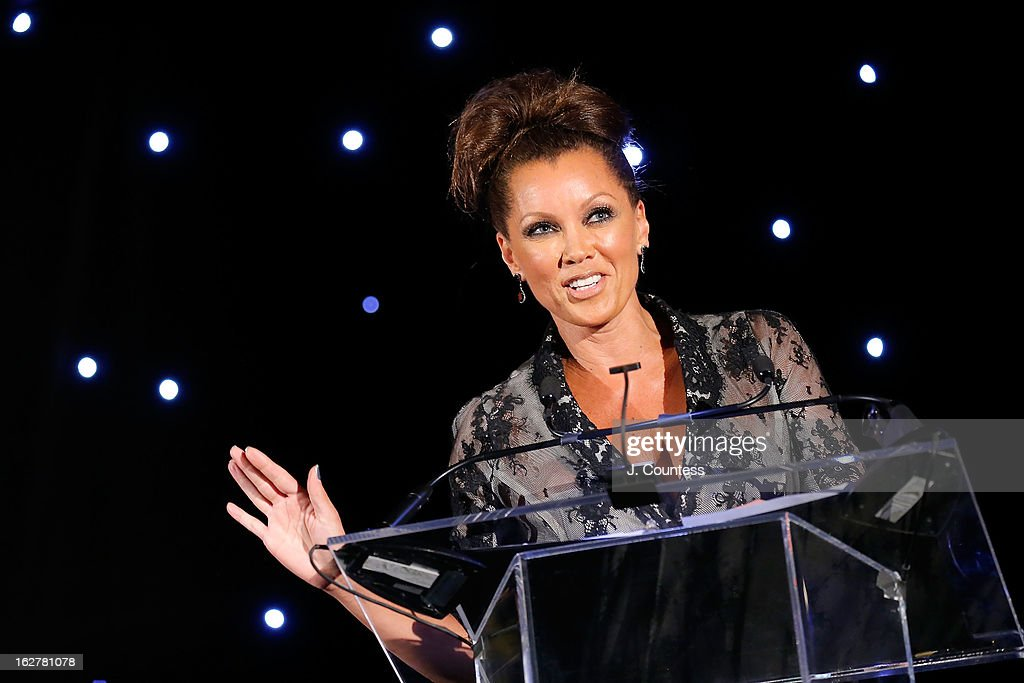 Actress/singer Vanessa Williams accepts the Dance Theatre of Harlem's 2013 Vision Award during the Dance Theatre Of Harlem's 44th Anniversary Celebration at Mandarin Oriental Hotel on February 26, 2013 in New York City.
