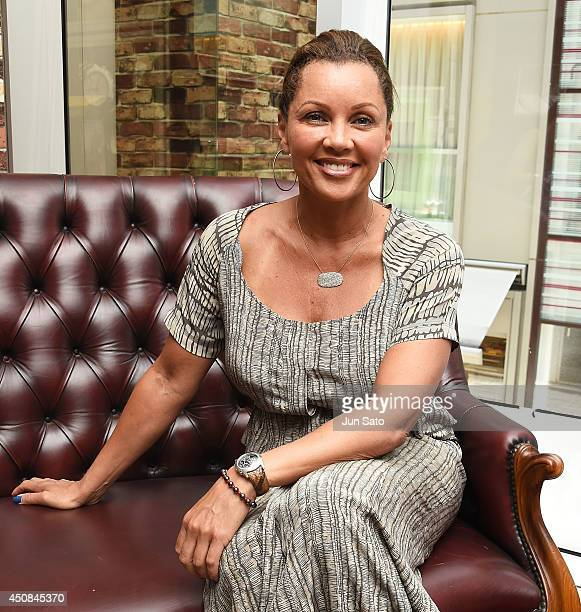 Actress/singer Vanessa Williams photographed during an interview session at Soul Snacks Cookies on June 19 2014 in Tokyo Japan