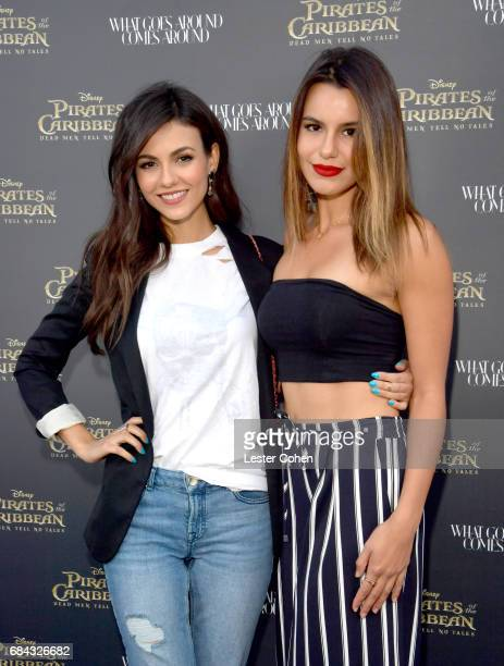 Actress/Singer Victoria Justice and internet personality Madison Reed attend the Pirates of the Caribbean special event at What Goes Around Comes...