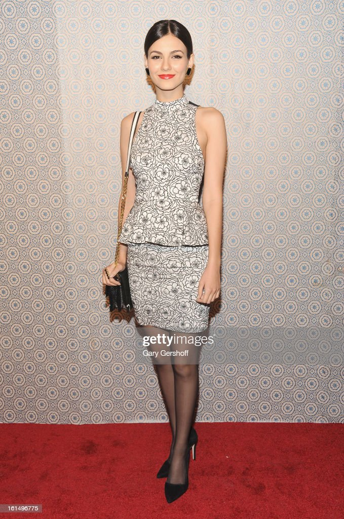 Actress/singer <a gi-track='captionPersonalityLinkClicked' href=/galleries/search?phrase=Victoria+Justice&family=editorial&specificpeople=569887 ng-click='$event.stopPropagation()'>Victoria Justice</a> attends the Alice + Olivia By Stacey Bendet presentation during Fall 2013 Mercedes-Benz Fashion Week on February 11, 2013 in New York City.