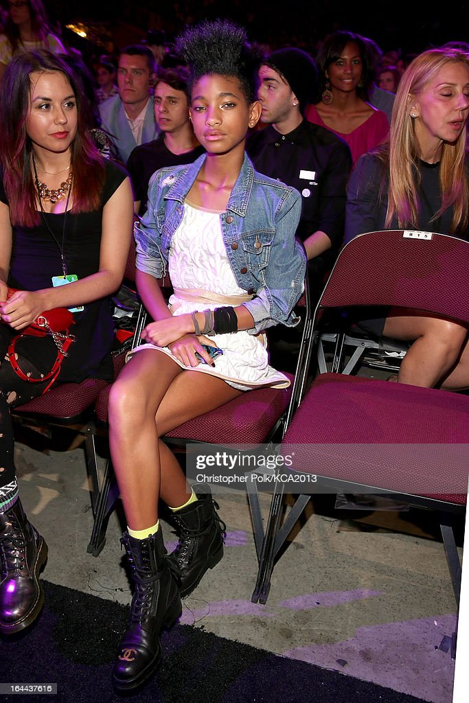 Actress/singer <a gi-track='captionPersonalityLinkClicked' href=/galleries/search?phrase=Willow+Smith&family=editorial&specificpeople=869488 ng-click='$event.stopPropagation()'>Willow Smith</a> attends Nickelodeon's 26th Annual Kids' Choice Awards at USC Galen Center on March 23, 2013 in Los Angeles, California.