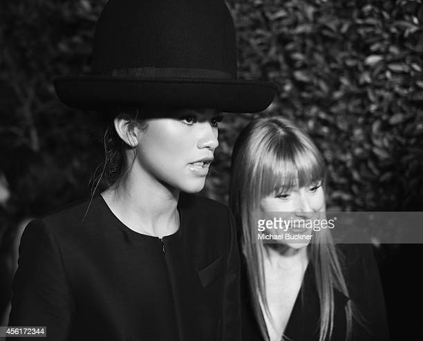 Actress/Singer Zendaya and Amy Astley editorinchief of Teen Vogue attends the 12th Annual Teen Vogue Young Hollywood Party with Emporio Armani at a...