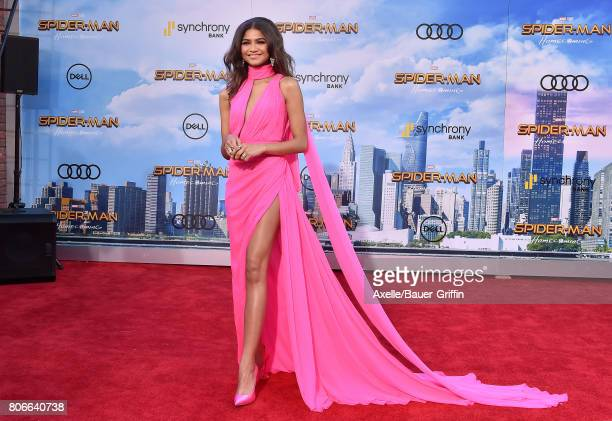 Actress/singer Zendaya arrives at the premiere of Columbia Pictures' 'SpiderMan Homecoming' at TCL Chinese Theatre on June 28 2017 in Hollywood...