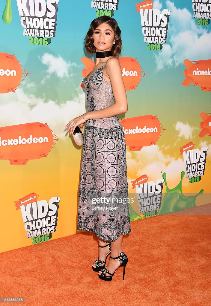 Actress/singer Zendaya attends Nickelodeon's 2016 Kids' Choice Awards at The Forum on March 12, 2016 in Inglewood, California.