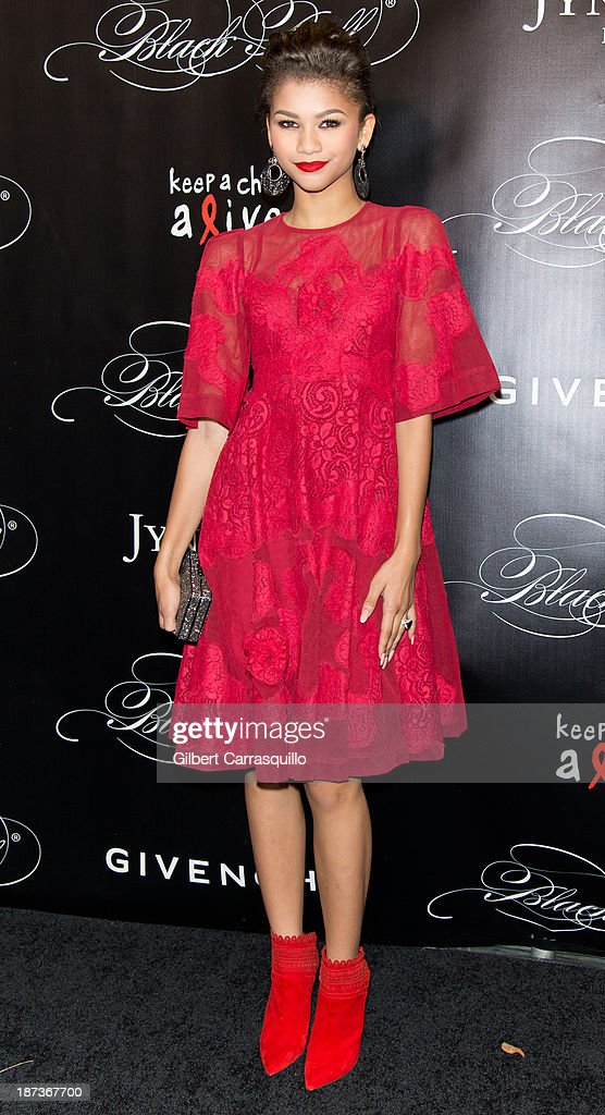 Actress/singer Zendaya attends the 10th annual Keep A Child Alive Black Ball at Hammerstein Ballroom on November 7, 2013 in New York City.