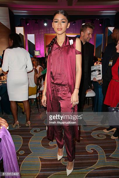 Actress/singer Zendaya attends the 2016 ESSENCE Black Women In Hollywood awards luncheon at the Beverly Wilshire Four Seasons Hotel on February 25...