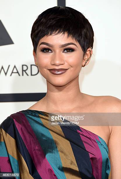 Actress/singer Zendaya attends The 57th Annual GRAMMY Awards at the STAPLES Center on February 8 2015 in Los Angeles California