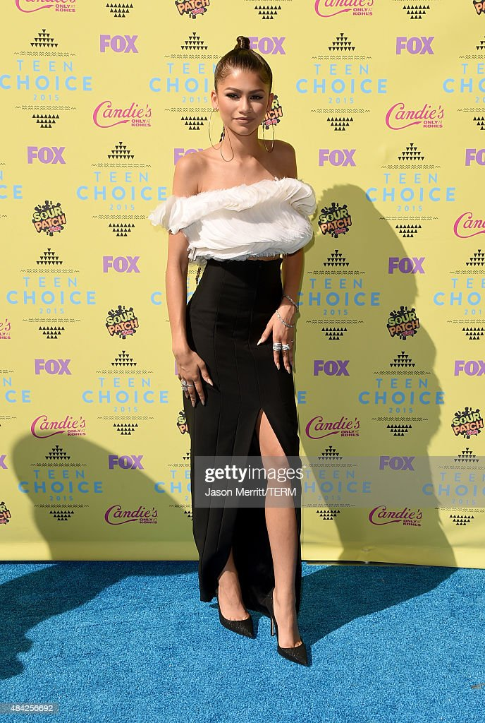 Actress/singer Zendaya attends the Teen Choice Awards 2015 at the USC Galen Center on August 16 2015 in Los Angeles California