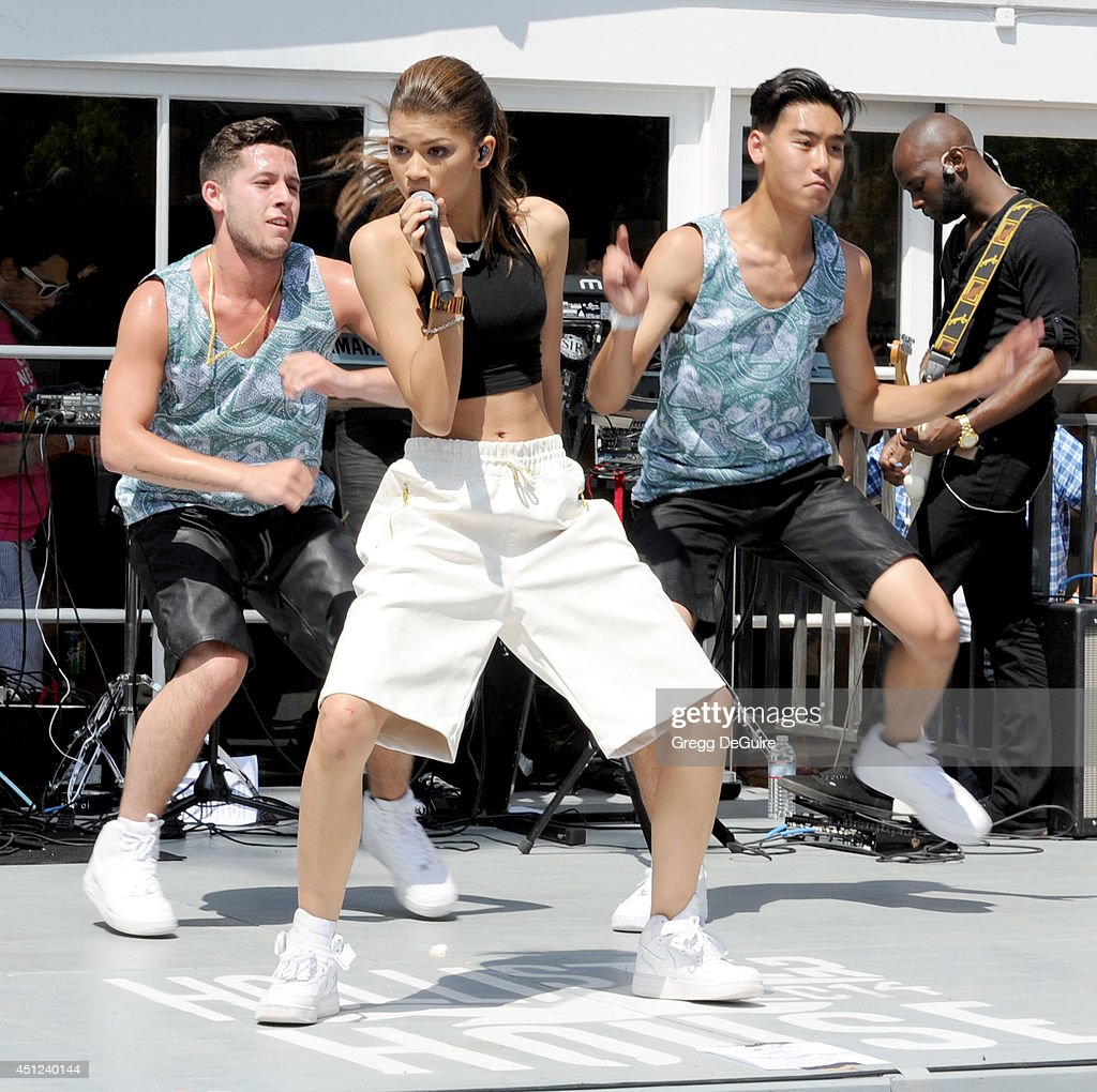 Actress/singer Zendaya performs at the Hollister House summer concert series at Hollister House on June 25, 2014 in Santa Monica, California.