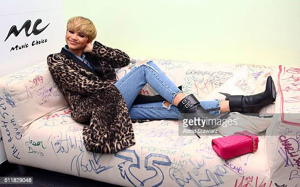 Actress/Singer Zendaya visits Music Choice on February 22 2016 in New York City