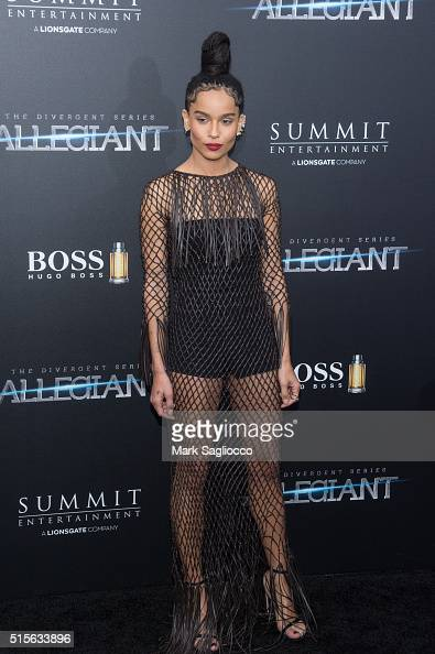 Actress/Singer Zoe Kravitz attends the 'Allegiant' New York Premiere at AMC Loews Lincoln Square 13 theater on March 14 2016 in New York City