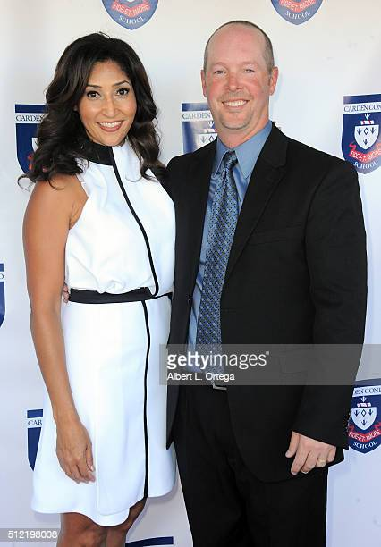 Actress/singer/host Bettina Bush and Kevin Kallister at the Opening and Dedication Of The Charles V Bush Library held at Carden Conejo School on...