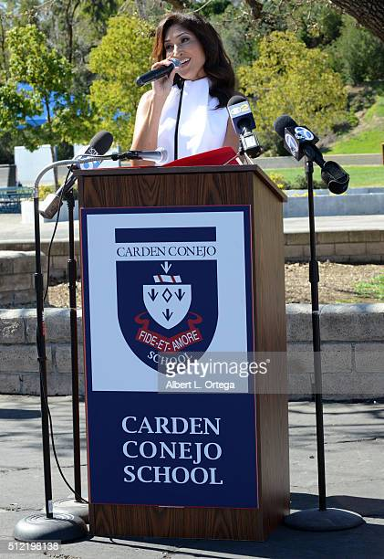 Actress/singer/host Bettina Bush at the Opening and Dedication Of The Charles V Bush Library held at Carden Conejo School on February 24 2016 in...