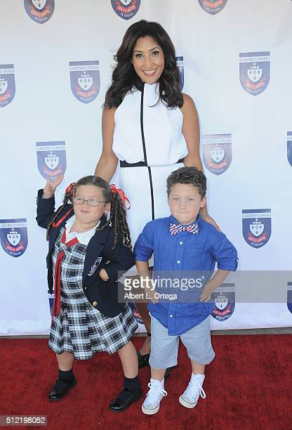 Actress/singer/host Bettina Bush daughter Cassie Bush and son Jesse Bush at the Opening and Dedication Of The Charles V Bush Library held at Carden...