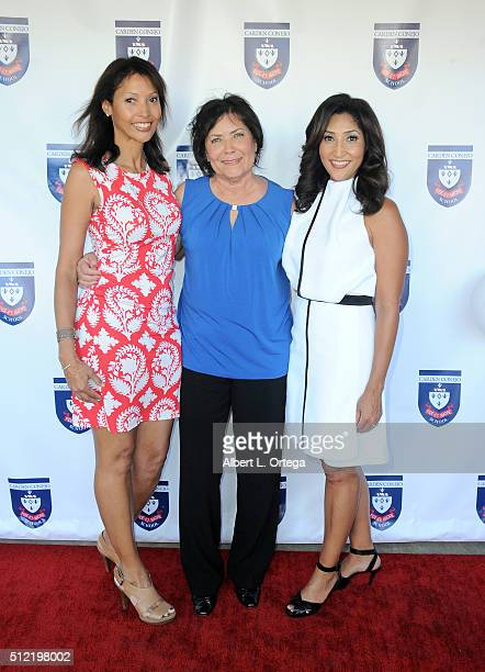 Actress/singer/host Bettina Bush with sister Kyra Bush Sarem and mom Tina Wills Bush at the Opening and Dedication Of The Charles V Bush Library held...