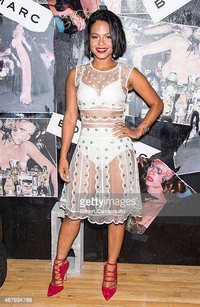 Actress/singersongwriter Christina Milian attends 'Gloss The Work Of Chris Von Wangenheim' Book Launch Party at The Tunnel on September 10 2015 in...