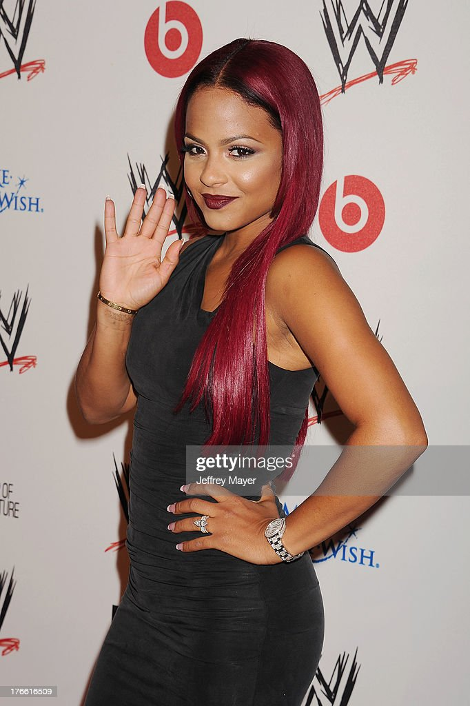 Actress/singer-songwriter Christina Milian attends WWE & E! Entertainment's 'SuperStars For Hope' at the Beverly Hills Hotel on August 15, 2013 in Beverly Hills, California.
