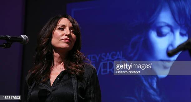 Actress/singer/songwriter Katey Sagal performs at the Apple Store Soho Presents Meet the Musician Katey Sagal at Apple Store Soho on November 7 2013...
