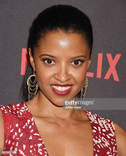 Actresssingersongwriter Renee Elise Goldsberry attends The Weinstein Company and Netflix Golden Globe Party presented with FIJI Water Grey Goose...