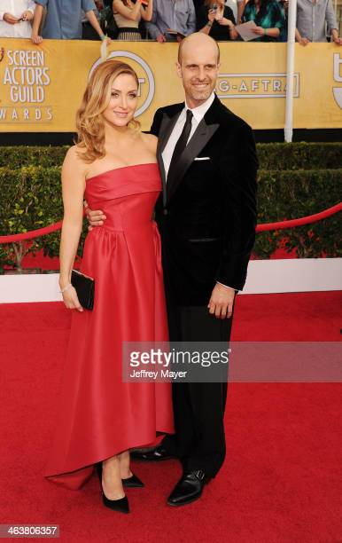 Actress/Social Media Ambassador Sasha Alexander and producer Edoardo Ponti arrive at the 20th Annual Screen Actors Guild Awards at The Shrine...
