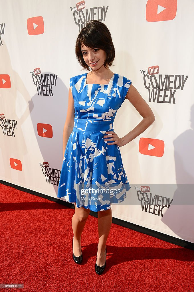 Actress/songwriter Kate Micucci of Garfunkel and Oates attends 'The Big Live Comedy Show' presented by YouTube Comedy Week held at Culver Studios on May 19, 2013 in Culver City, California.
