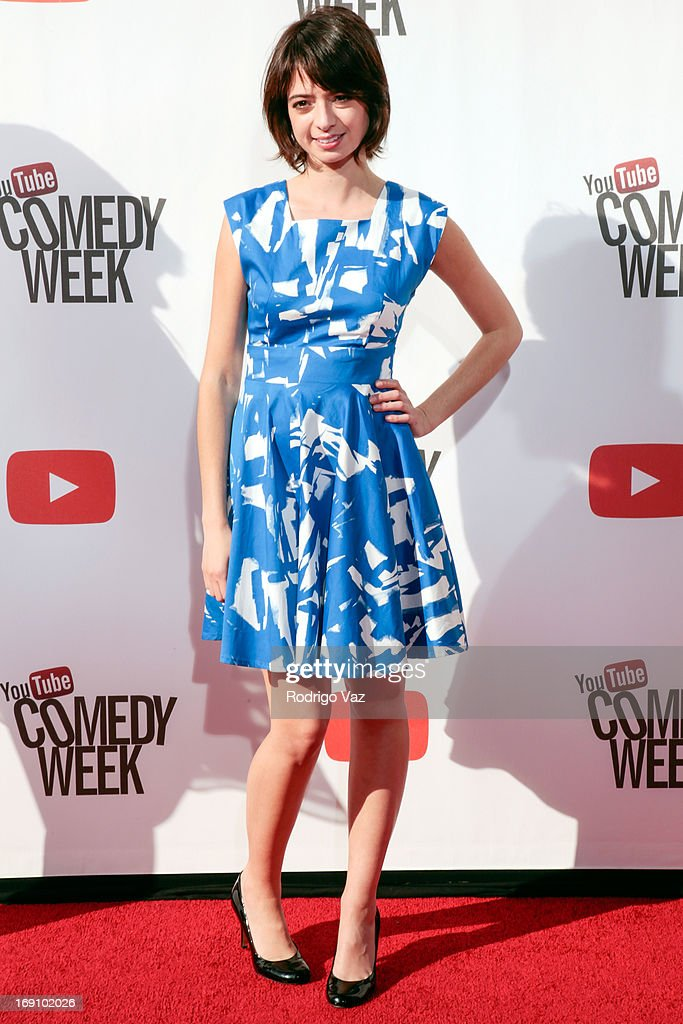 Actress/songwriter <a gi-track='captionPersonalityLinkClicked' href=/galleries/search?phrase=Riki+Lindhome&family=editorial&specificpeople=2649294 ng-click='$event.stopPropagation()'>Riki Lindhome</a> arrives at the YouTube Comedy Week Presents 'The Big Live Comedy Show' at Culver Studios on May 19, 2013 in Culver City, California.