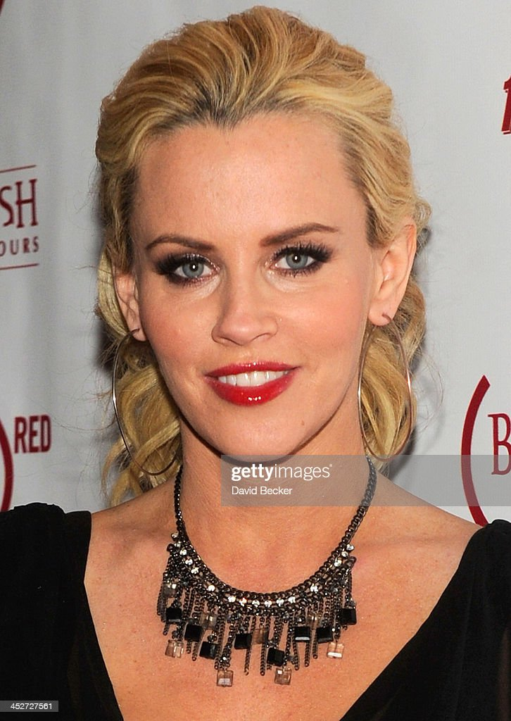Actress/television host Jenny McCarthy arrives at the Body English nightclub inside the Hard Rock Hotel & Casino to host the 'Dirty, Sexy, Funny' after party on December 1, 2013 in Las Vegas, Nevada.
