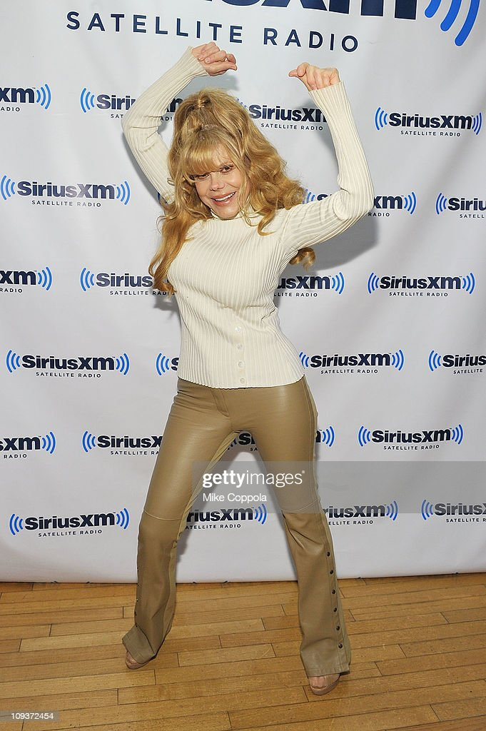 Actress/television personality Charo visits SiriusXM Studio on February 23 2011 in New York City