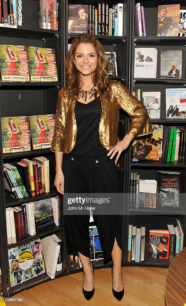 Actress/TV host Maria Menounos signs copies of her new book 'Everygirl's Guide To Life' at Book Soup on April 22 2011 in West Hollywood California
