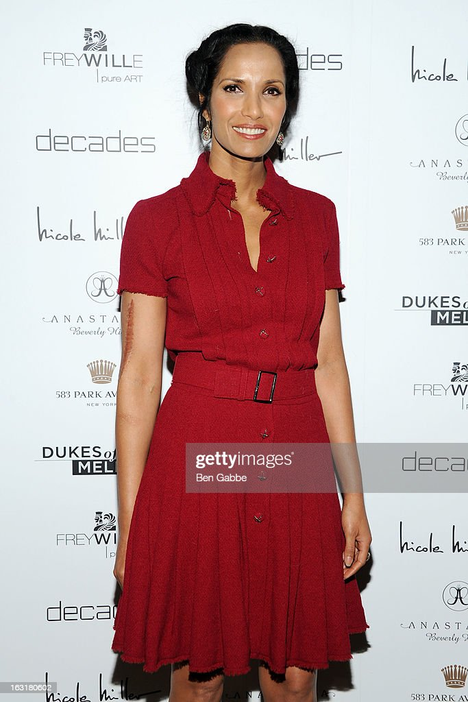 Actress/TV host Padma Lakshmi attends the 'Dukes Of Melrose' Premiere at 583 Park Avenue on March 5, 2013 in New York City.