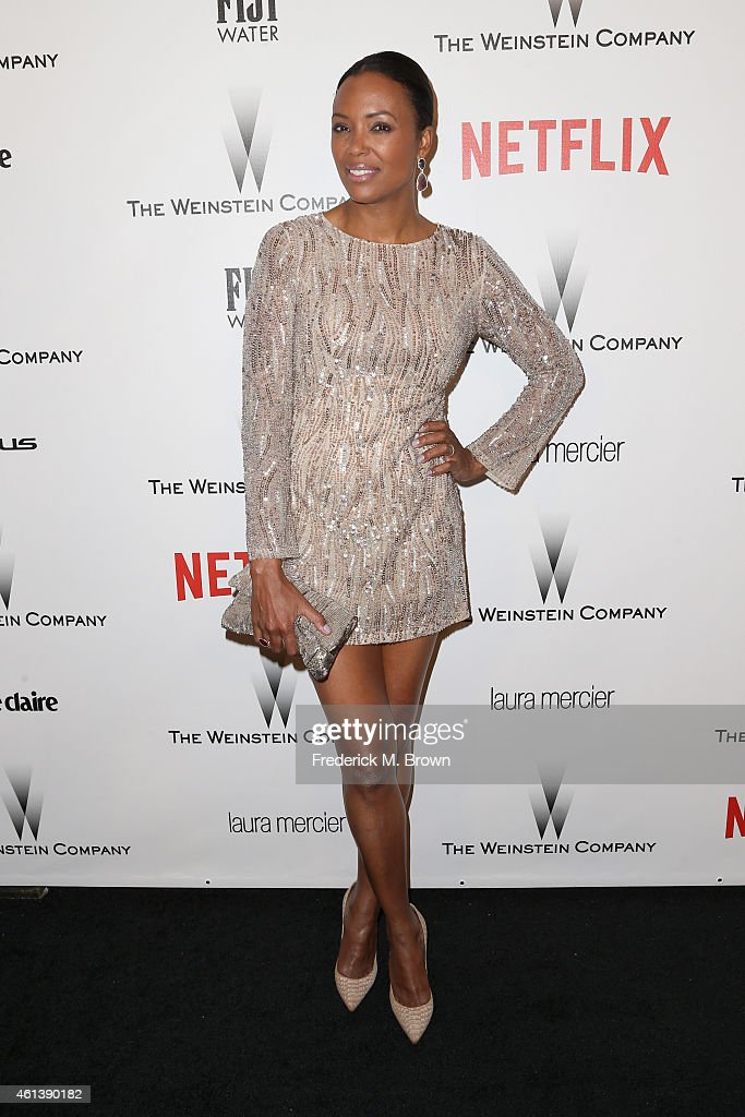Actress/TV Personality <a gi-track='captionPersonalityLinkClicked' href=/galleries/search?phrase=Aisha+Tyler&family=editorial&specificpeople=202262 ng-click='$event.stopPropagation()'>Aisha Tyler</a> attends the 2015 Weinstein Company and Netflix Golden Globes After Party at Robinsons May Lot on January 11, 2015 in Beverly Hills, California.