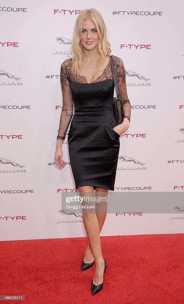 Actress/TV personality Donna Air arrives at the Jaguar F-TYPE Coupe launch party at Raleigh Studios on November 19, 2013 in Playa Vista, California.