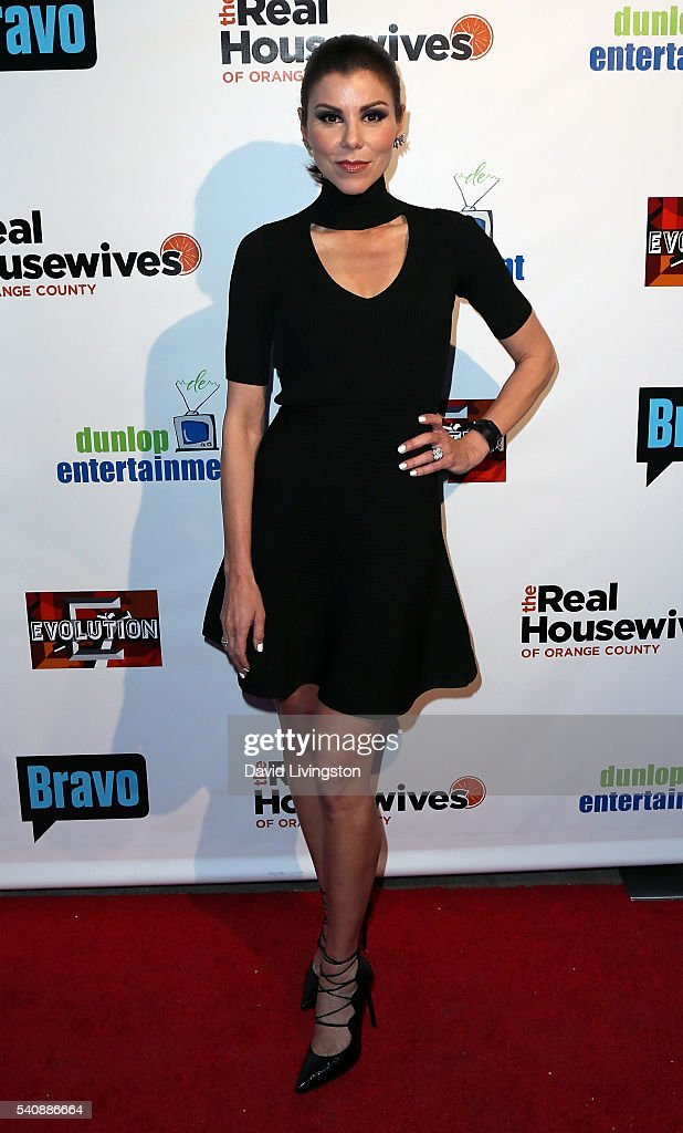 Actress/TV personality Heather Dubrow attends the premiere party for Bravo's 'The Real Housewives of Orange County' 10 Year Celebration at Boulevard3...