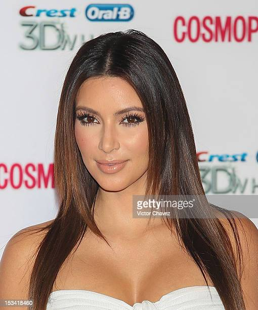 Actress/TV personality Kim Kardashian attends the Cosmopolitan Magazines 40th Anniversary celebration at the Westin Hotel on October 4 2012 in Mexico...