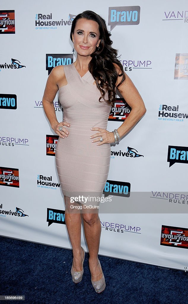 Actress/TV personality Kyle Richards arrives at 'The Real Housewives Of Beverly Hills' And 'Vanderpump Rules' premiere party at Boulevard3 on October...