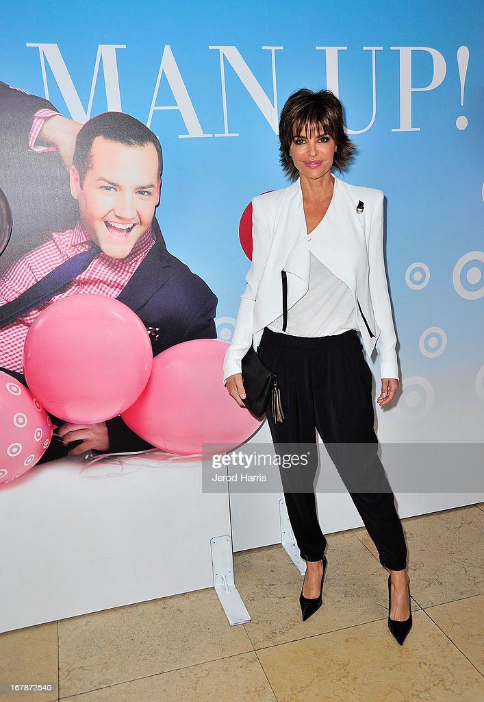 Actress/TV personality Lisa Rinna at 'Roast and Toast with Ross Mathews' hosted by Target to celebrate the launch of Mathews' book 'Man Up!' at Sunset Tower on May 1, 2013 in West Hollywood, California.