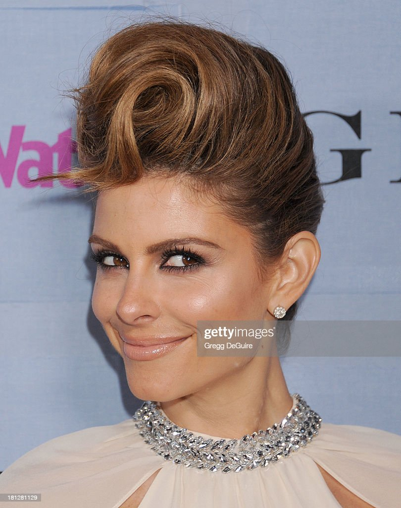 Actress/TV personality <a gi-track='captionPersonalityLinkClicked' href=/galleries/search?phrase=Maria+Menounos&family=editorial&specificpeople=203337 ng-click='$event.stopPropagation()'>Maria Menounos</a> arrives at the People StyleWatch Denim party at Palihouse on September 19, 2013 in West Hollywood, California.