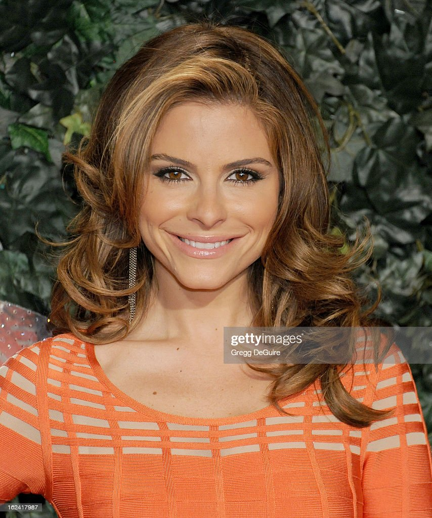 Actress/TV personality <a gi-track='captionPersonalityLinkClicked' href=/galleries/search?phrase=Maria+Menounos&family=editorial&specificpeople=203337 ng-click='$event.stopPropagation()'>Maria Menounos</a> arrives at the QVC 'Red Carpet Style' party at Four Seasons Hotel Los Angeles at Beverly Hills on February 22, 2013 in Beverly Hills, California.