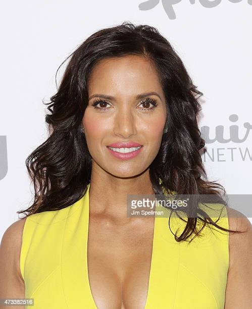 Actress/tv personality Padma Lakshmi attends the 2015 NBCUniversal cable entertainment upfront at The Jacob K Javits Convention Center on May 14 2015...