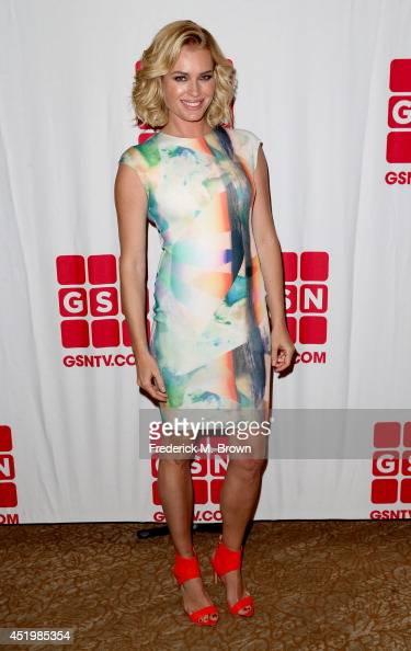Actress/TV personality Rebecca Romijn poses during the 2014 Summer Television Critics Association at The Beverly Hilton Hotel on July 10 2014 in...