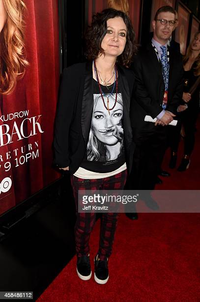 Actress/TV personality Sara Gilbert attends the premiere of HBO's 'The Comeback' at the El Capitan Theatre on November 5 2014 in Hollywood California