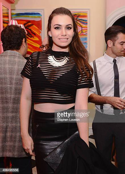 Actress/TV personality Sophie Simmons attends the 'Hear Our Stories screening after party hosted by the Estee Lauder Companies Breast Cancer...